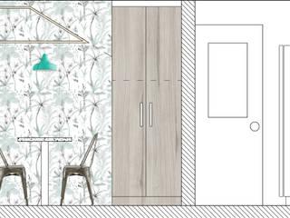 REMODELACION Y APLIACION COCINA PUENTE ALTO:  de estilo  por Estudio Arquitectura y construccion PR/ Arquitectura, Construccion y Diseño de interiores / Santiago, Rancagua y Viña del mar,