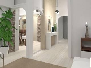 Couloir, entrée, escaliers modernes par Arquimundo 3g - Diseño de Interiores - Ciudad de Buenos Aires Moderne