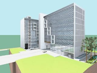 Edificação: Edifício de escritórios com 2 blocos por Screenproject Consulting Engineers, Lda Moderno