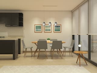 Scandinavian style dining room by MM Design Scandinavian