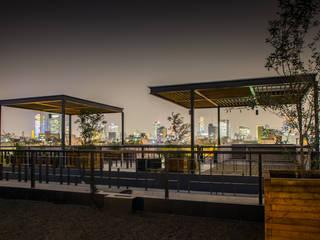 Coahuila 59, Roma Norte: Terrazas de estilo  por Contexto Arquitectos