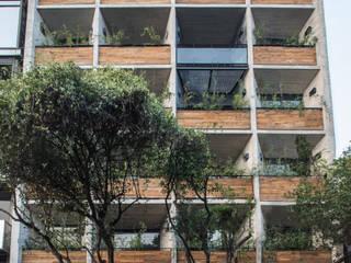 Fachada Coahuila 59: Condominios de estilo  por Contexto Arquitectos