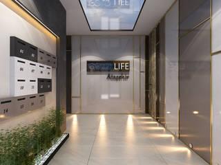 MİNERVA MİMARLIK Corridor, hallway & stairsLighting