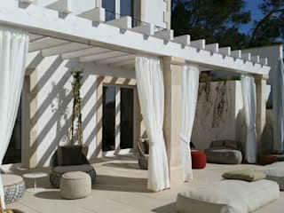 Área Deluxe Balconies, verandas & terracesAccessories & decoration Textile White