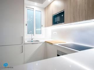 Grupo Inventia Cocinas pequeñas Compuestos de madera y plástico Blanco