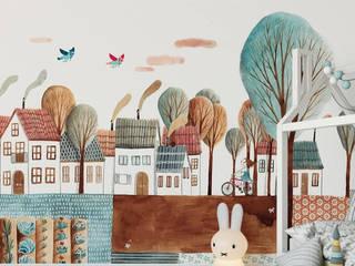 SK Concept Duvar Kağıtları  – Out of town :  tarz Kız çocuk yatak odası