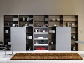 Decordesign Interiores Study/officeCupboards & shelving Grey
