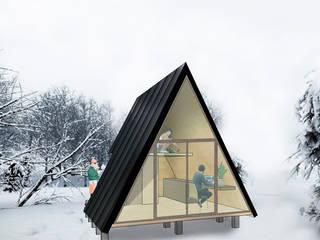 Экодома в . Автор – UNOAUNO arquitectura sustentable, Минимализм