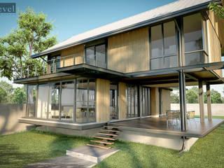 บ้านโครงสร้างเหล็ก โดย LEVEL ARCHITECT โมเดิร์น