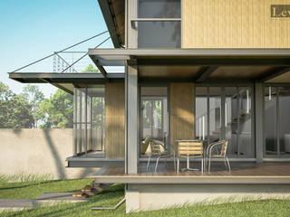 บ้านโครงสร้างเหล็ก โดย LEVEL ARCHITECT เอเชียน