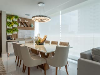 Salas de Jantar: Salas de jantar  por Gleide Belfort interiores,Clássico