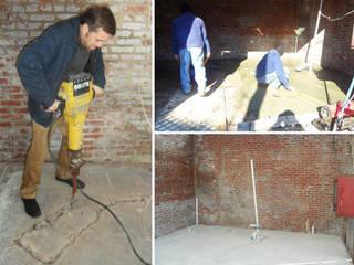 Vip Dekorasyon – Su Giderleri ve WC için Zemin Kırımı ve Şap Atımı:  tarz Zeminler