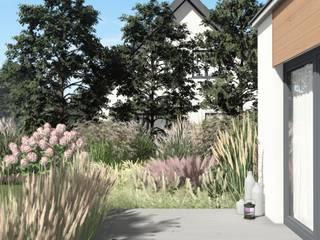 Jardines de estilo  por STTYK - Pracownia Architektury Wnętrz i Krajobrazu