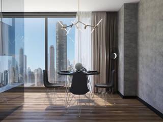 дизайн интерьера апартаментов в Корстон Серпухов. Гостиная в стиле минимализм от Дизайн бюро Елены Ёхиной. Минимализм
