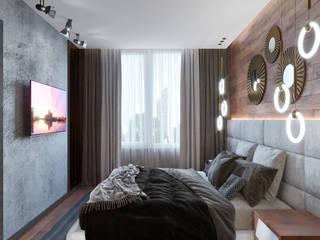 дизайн интерьера апартаментов в Корстон Серпухов. Спальня в стиле минимализм от Дизайн бюро Елены Ёхиной. Минимализм