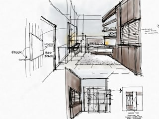 Compact apartment interiors by EX SERVICEMAN ENTERPRISES