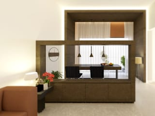 Compact apartment interiors Modern living room by EX SERVICEMAN ENTERPRISES Modern