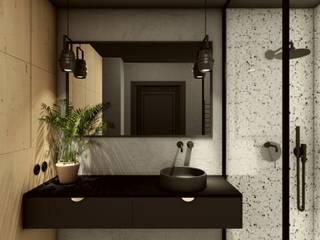 Baños de estilo  por STTYK - Pracownia Architektury Wnętrz i Krajobrazu