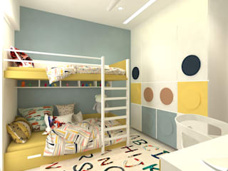 kids bedroom:  Small bedroom by DesignTechSolutions