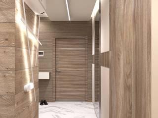 Дизайн интерьера однокомнатной квартиры в ЖК «Татьянин Парк» : Коридор и прихожая в . Автор – ИнтеРИВ