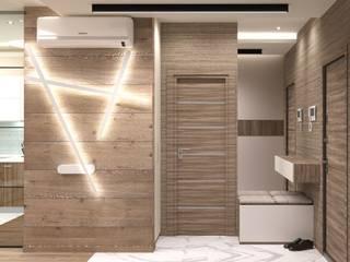 Дизайн интерьера однокомнатной квартиры в ЖК «Татьянин Парк» Коридор, прихожая и лестница в скандинавском стиле от ИнтеРИВ Скандинавский