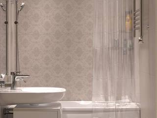 Дизайн интерьера двухкомнатной квартиры в Сокольниках : Ванные комнаты в . Автор – ИнтеРИВ