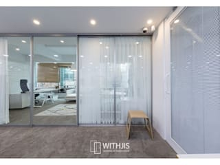 WITHJIS(위드지스) Office buildings Aluminium/Zinc Metallic/Silver
