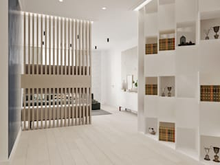 Pasillos, vestíbulos y escaleras de estilo industrial de ReDi Industrial
