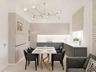 Квартира в ЖК «Тайм» Кухня в стиле лофт от ReDi Лофт