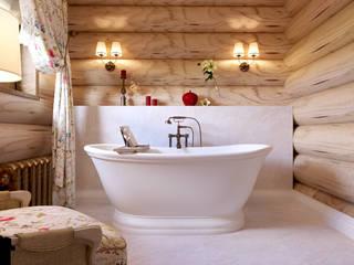 Коттедж из бруса в поселке «Европейский» Ванная в классическом стиле от ReDi Классический