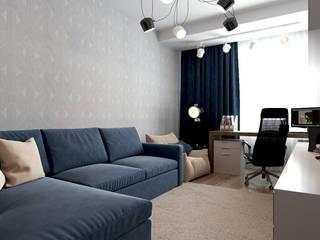Квартира в ЖК «Бульварный переулок» Гостиная в стиле минимализм от ReDi Минимализм