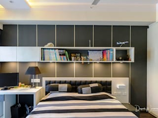 Son's Bedroom - Residence at The Belaire, Golf Course Road:  Bedroom by The Workroom