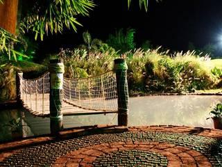Baghorama Landscape Architects Kolam taman Batu Bata Brown