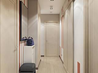 Проект рождественский Коридор, прихожая и лестница в эклектичном стиле от Наталья Преображенская | Студия 'Уютная Квартира' Эклектичный