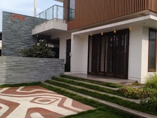 Baghorama Landscape Architects Halaman depan Keramik Brown