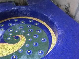 Baghorama Landscape Architects Pondok taman Keramik Blue