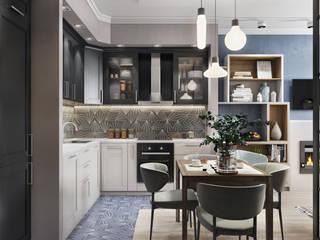 Современный и яркий Кухня в стиле лофт от Наталья Преображенская | Студия 'Уютная Квартира' Лофт