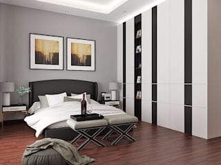 Chambre moderne par Lighthouse Architect Indonesia Moderne