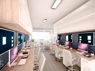 Diseño Interior Estudio Contable AC de AS Arquitectura e Interiores Moderno