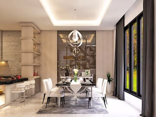 Modern dining room by Lighthouse Architect Indonesia Modern