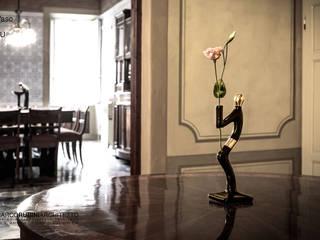 4U Vaso Vase Black and Gold di Marco Rubini Architetto