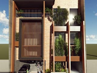 Structura Architects Terrace house Ceramic Brown