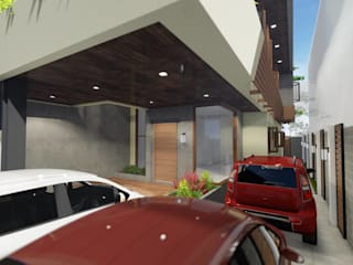 3-Storey Residence, Taguig:  Carport by Structura Architects