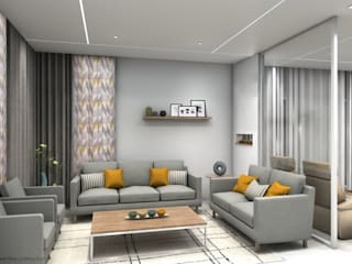 Phòng khách phong cách Bắc Âu bởi VA design studio Bắc Âu