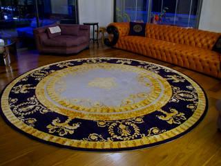 ZEN HALI リビングルームアクセサリー&デコレーション 絹 アンバー/ゴールド