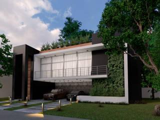 Vivienda unifamiliar  en Cancún : Casas multifamiliares de estilo  por ELOARQ,
