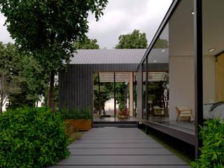 casa en el lago. Arquitectura en cancun.: Casitas de jardín de estilo  por ELOARQ,