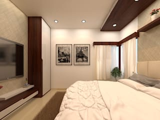 DUPLEX VILLA @ ALWARPET:  Bedroom by SPACE CULTURE