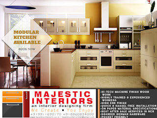 MODULAR KITCHEN DESIGNS AND DEALERS IN FARIDABAD:  Kitchen units by MAJESTIC INTERIORS