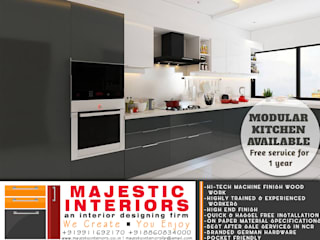 MODULAR KITCHENS NEAR ME IN FARIDABAD:  Small kitchens by MAJESTIC INTERIORS